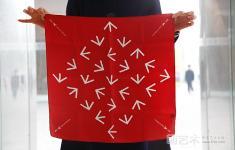 艺术 系列/中国红系列 正方形丝巾